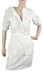 Stella McCartney short dress White Cotton Front Flap Summer Structured Linen on Tradesy