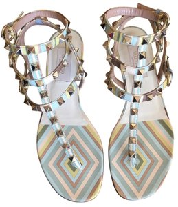 Valentino Studded Rainbow Multicolor Sandals