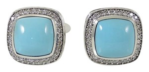 David Yurman David Yurman Silver .49tcw 11mm Turquoise Diamond Albion Earrings