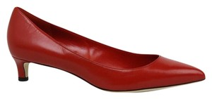 Gucci Pointed Toe Low-heel 353701 Leather Red Pumps