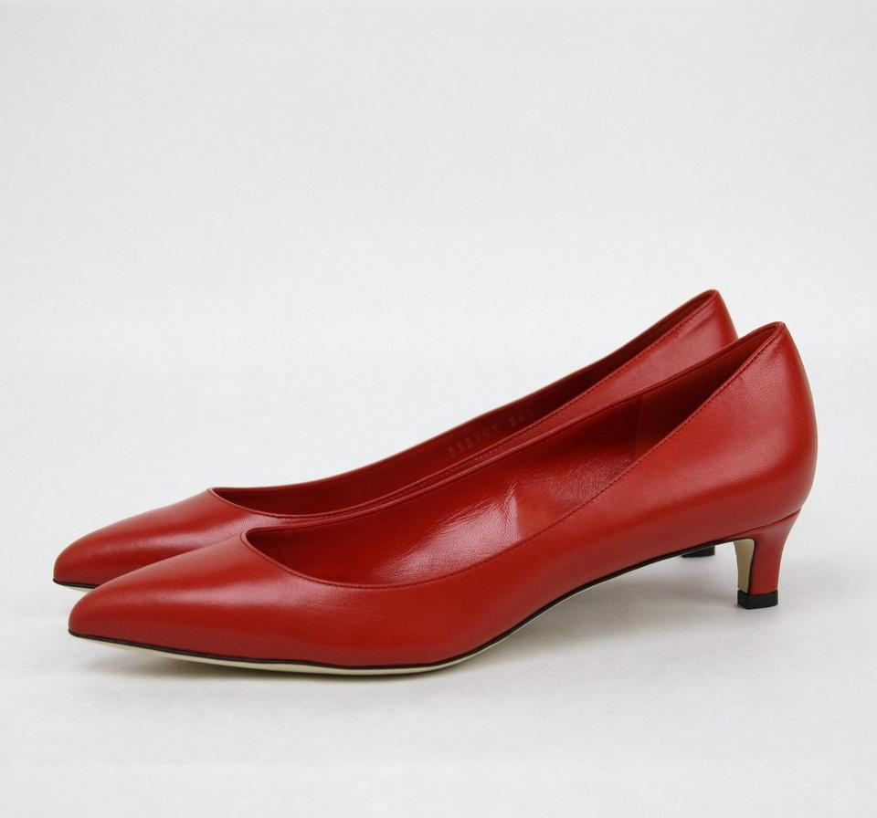 744e9105535a Gucci Red New Women s Pointed Toe Low-heel It 38.5  8.5 353701 6516 ...
