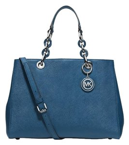 Michael Kors Cynthia Medium Satchel in Steel Blue