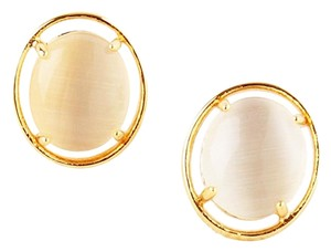 Kate Spade NEW kate spade New York Open Rim Studs in White 12k GP Gold Earrings
