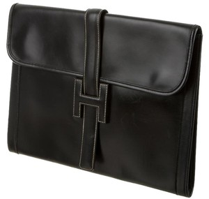 Hermès Hermes Box Jige Gm Black Clutch
