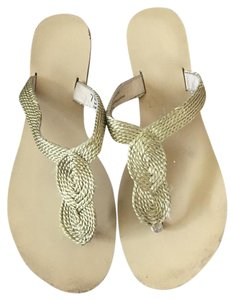 Urban Outfitters Gold Sandals