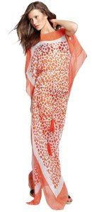 multi Maxi Dress by Diane von Furstenberg Caftan Kaftan Maxi Sheer