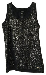Calvin Klein Collection Black Silver Top Black/Silver