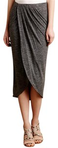Dolan Anthropologie Draped Lined Skirt Gray