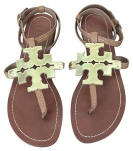 Tory Burch Brown Gold Sandals
