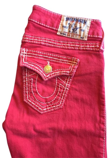 Item - Red Coated Big T Boot Cut Jeans Size 28 (4, S)