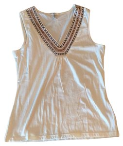 Old Navy Top white with beads