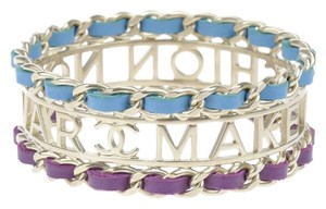 Chanel Chanel Make Fashion Not War Bracelet Cuff