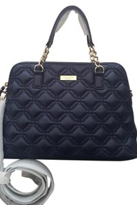 Kate Spade Quilted Leather Diamond Satchel in Navy