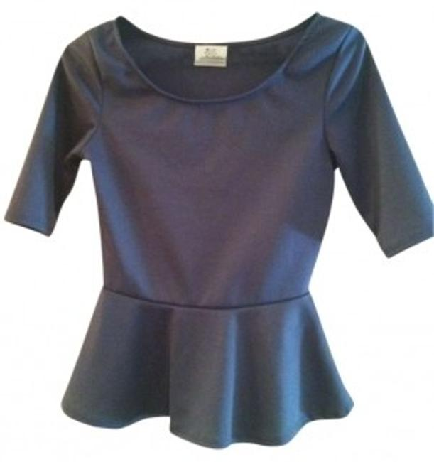 Preload https://item5.tradesy.com/images/urban-outfitters-charcoal-peplum-blouse-size-4-s-190834-0-0.jpg?width=400&height=650
