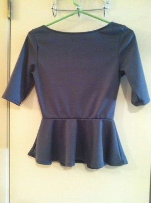 Urban Outfitters Top Charcoal Peplum