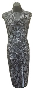 Kenneth Cole short dress black and gray Snakeskin Print on Tradesy