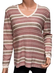 St. John Striped Festive Holiday Wool Sweater