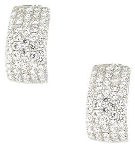 18K White Gold 4.41Ct Diamond Hoop Earrings 8.6 Grams