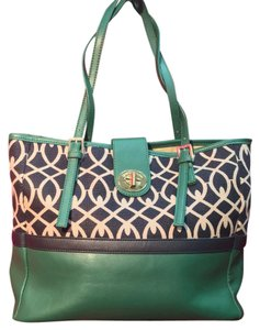 Spartina 449 Tote in Green Blue White