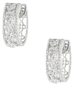 Other 18K White Gold 1.66Ct Diamond Hoop Earrings 7.8 Grams