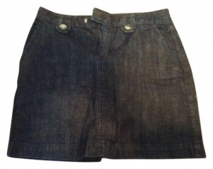 Banana Republic Skirt Dark jean wash
