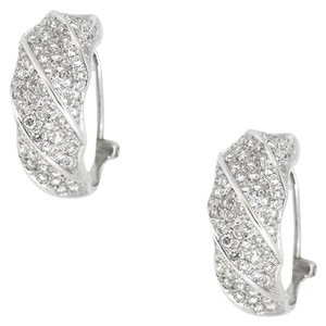Other 18K White Gold 2.20Ct Diamond Hoop Earrings 11.4 Grams