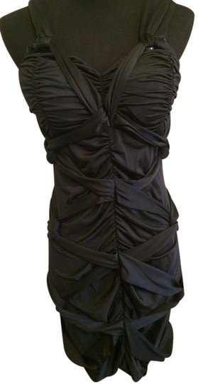 Twist Knot Ruched Cocktail Dress #19084363 - Cocktail Dresses low-cost