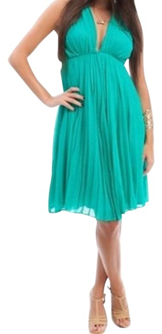 Preload https://item1.tradesy.com/images/green-accordian-pleat-halter-open-back-knee-length-cocktail-dress-size-8-m-19084495-0-1.jpg?width=400&height=650