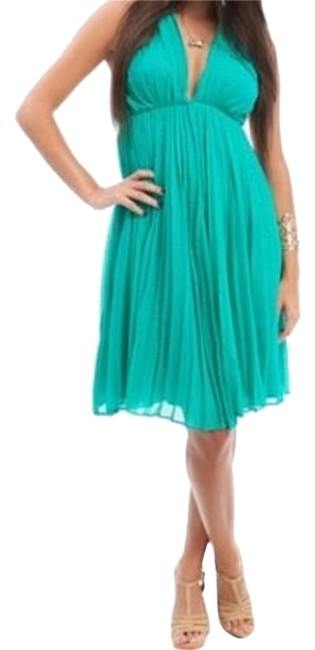 Preload https://item4.tradesy.com/images/green-accordian-pleat-halter-open-back-knee-length-cocktail-dress-size-4-s-19084513-0-1.jpg?width=400&height=650