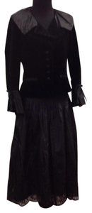 Teri Jon Velvet Lace Silk Taffeta Dress