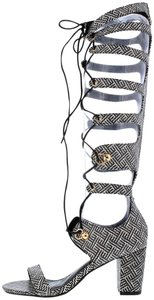 Other Black and White Aztec Sandals
