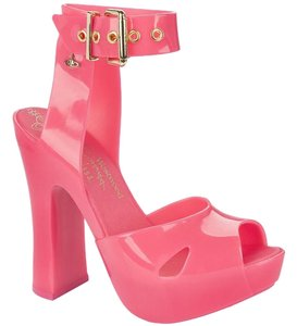 Vivienne Westwood Orb Jelly Anglomania Neon Pink Sandals