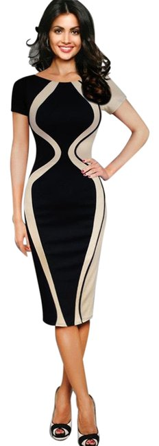 Preload https://item5.tradesy.com/images/pink-or-green-bodycon-knee-length-formal-dress-size-4-s-19084939-0-2.jpg?width=400&height=650