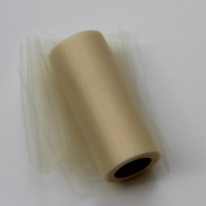 Ivory Shimmer Tulle Roll - 25 Yard X 6 In - Shimmer Tulle Roll - 25 Yard Tulle Roll