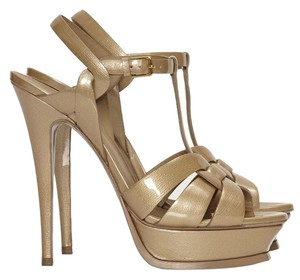 Saint Laurent Beige/Gold Platforms