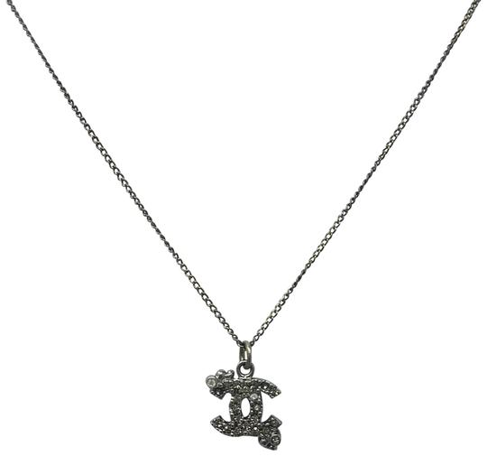 Preload https://item3.tradesy.com/images/chanel-grey-silver-cc-silver-crystal-dots-detail-pendant-necklace-19085497-0-3.jpg?width=440&height=440
