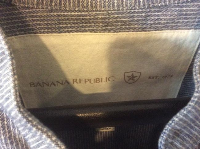 Banana Republic Blue and white pinstripe Blazer