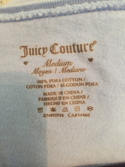 Juicy Couture Sleep Comfy T Shirt Blue and Gold