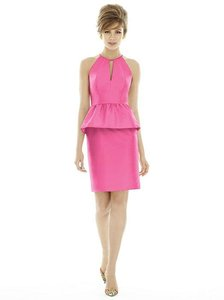 Alfred Sung Strawberry Peau De Soie D689 Bridesmaid/Mob Dress Size 10 (M)