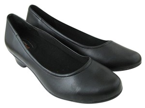 safetstep Comfort Work Slip Oil Resistant Heels 8.5 Safe T Step Faux Leather As New black Pumps