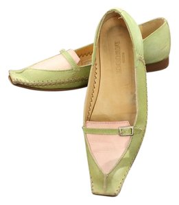 Sesto Meucci Loafers Oxford Pink Leather Green Flats