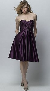 Wtoo Plum Purple Satin 260 Bridesmaid/Mob Dress Size 8 (M)