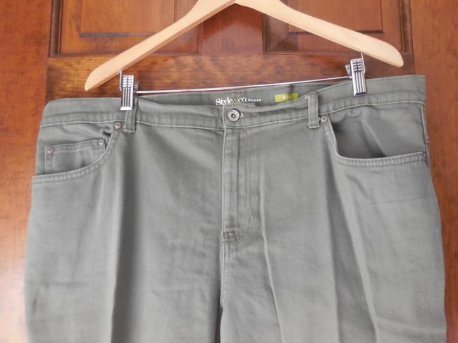 Style & Co Plus-size 5 Pocket Easy Cotton Blend Comfortable Straight Pants Green
