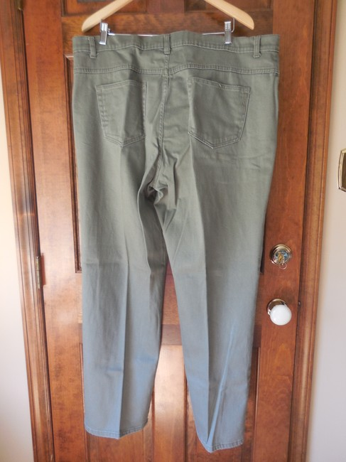 79f0c45e0887d Style   Co Plus-size 5 Pocket Easy Cotton Blend Comfortable Straight Pants  Green Image