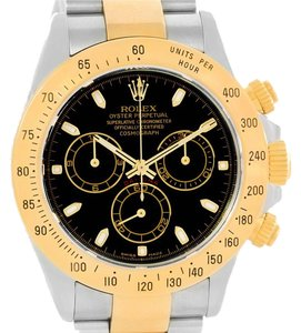 Rolex Rolex Cosmograph Daytona Steel 18K Yellow Gold Black Dial Watch 116523