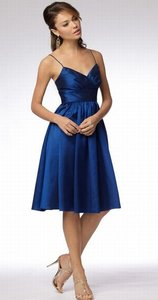 Wtoo Baltic Blue Shantung 956 Bridesmaid/Mob Dress Size 10 (M)