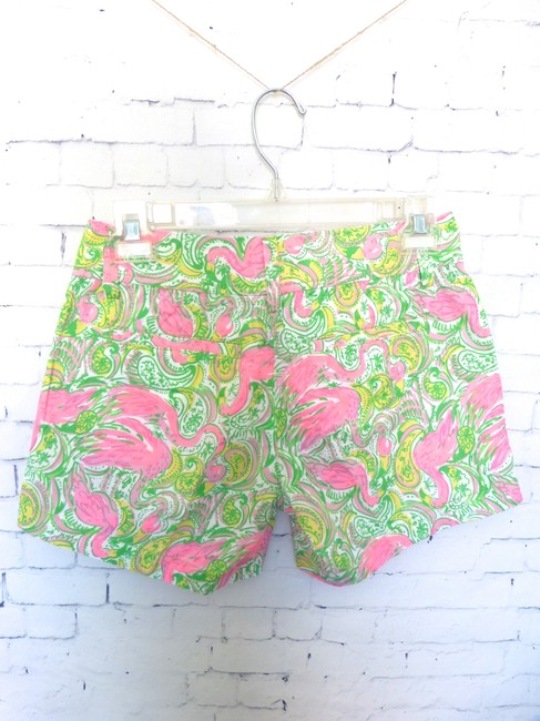 Lilly Pulitzer Flamingo Bermuda Shorts Pink