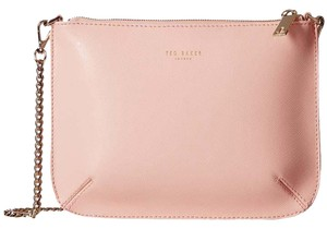Ted Baker Leather New With Pink Gold Cross Body Bag