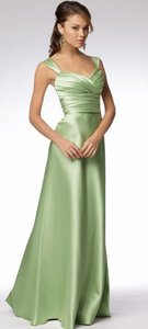 Wtoo Lime Satin 961 Bridesmaid/Mob Dress Size 12 (L)