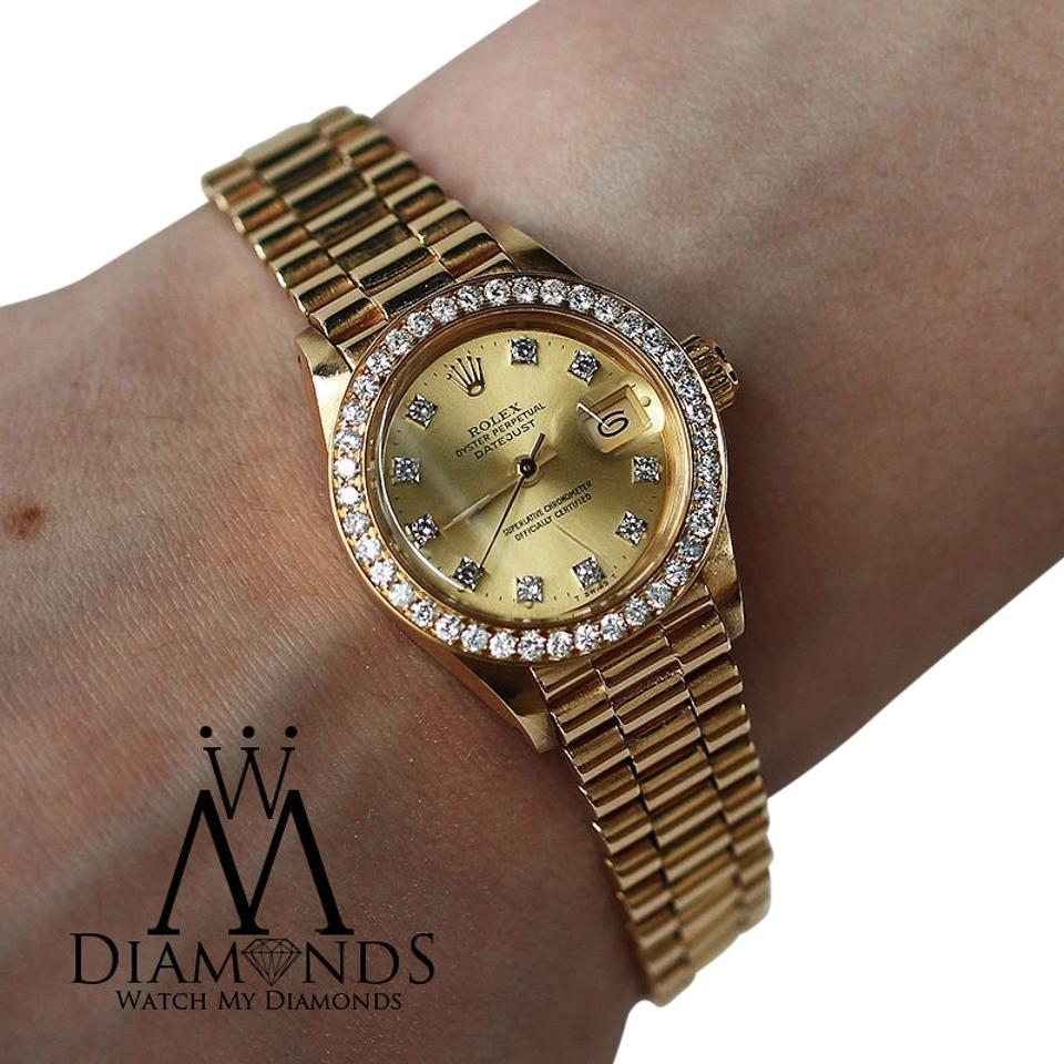 Rolex 18k Yellow Gold President 31mm Midsize Diamond Presidential